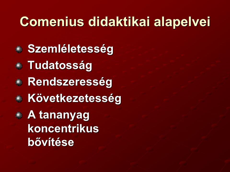 Comenius didaktikai alapelvei