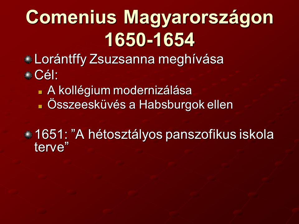 Comenius Magyarországon 1650-1654