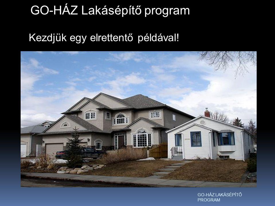 A Z GO-HÁZ Lakásépítő program Kezdjük egy elrettentő példával!