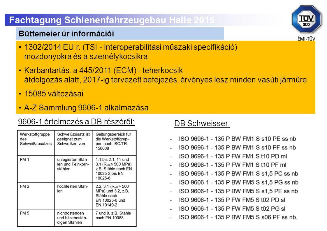 Fachtagung Schienenfahrzeugebau Halle 2015