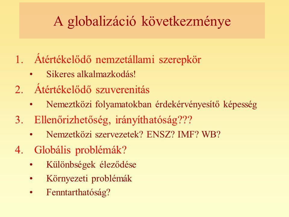A globalizáció következménye