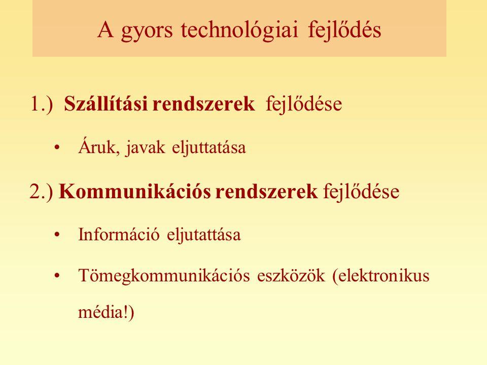 A gyors technológiai fejlődés