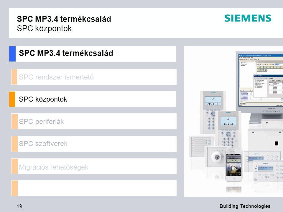 SPC MP3.4 termékcsalád SPC központok