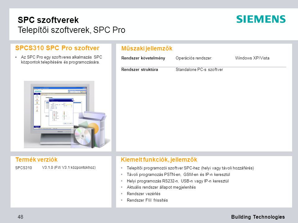 SPC szoftverek Telepítői szoftverek, SPC Pro