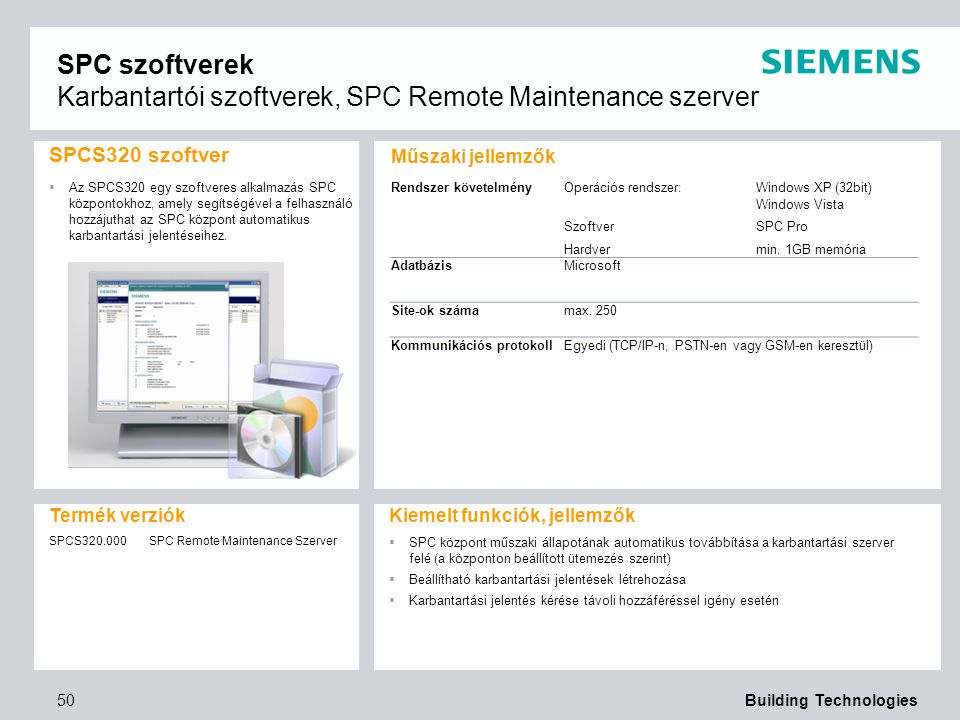 SPC szoftverek Karbantartói szoftverek, SPC Remote Maintenance szerver