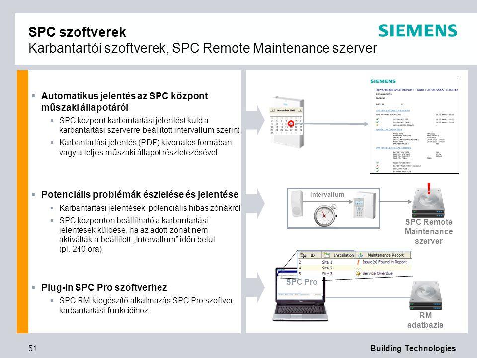 SPC Remote Maintenance szerver