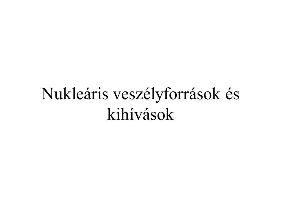 Nukleáris veszélyforrások és kihívások