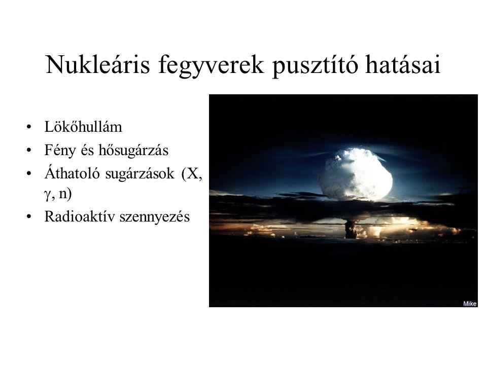 Nukleáris fegyverek pusztító hatásai