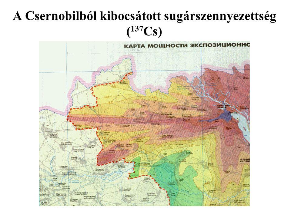 A Csernobilból kibocsátott sugárszennyezettség (137Cs)
