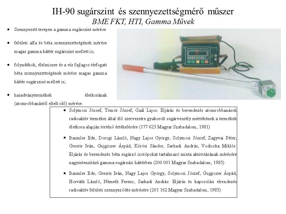 IH-90 sugárszint és szennyezettségmérő műszer