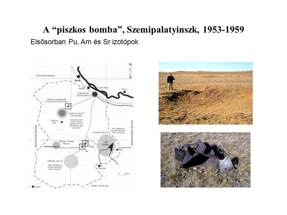 A piszkos bomba , Szemipalatyinszk, 1953-1959