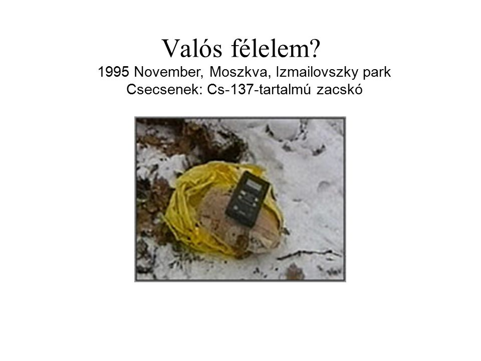 Valós félelem 1995 November, Moszkva, Izmailovszky park