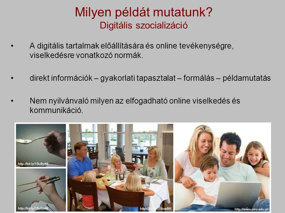 Milyen példát mutatunk Digitális szocializáció