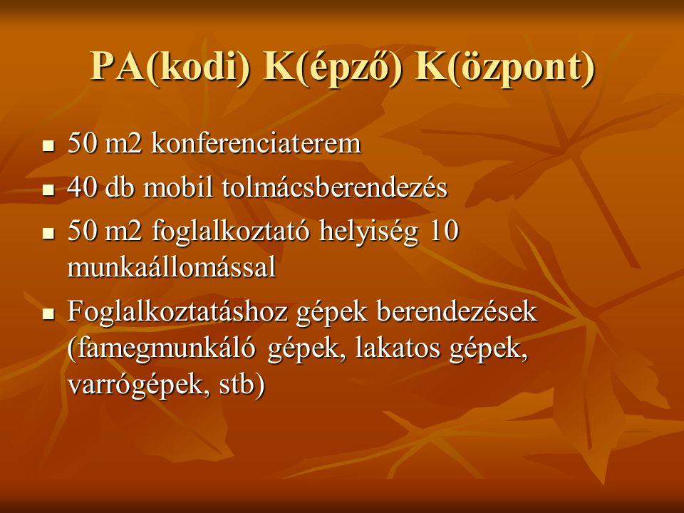 PA(kodi) K(épző) K(özpont)