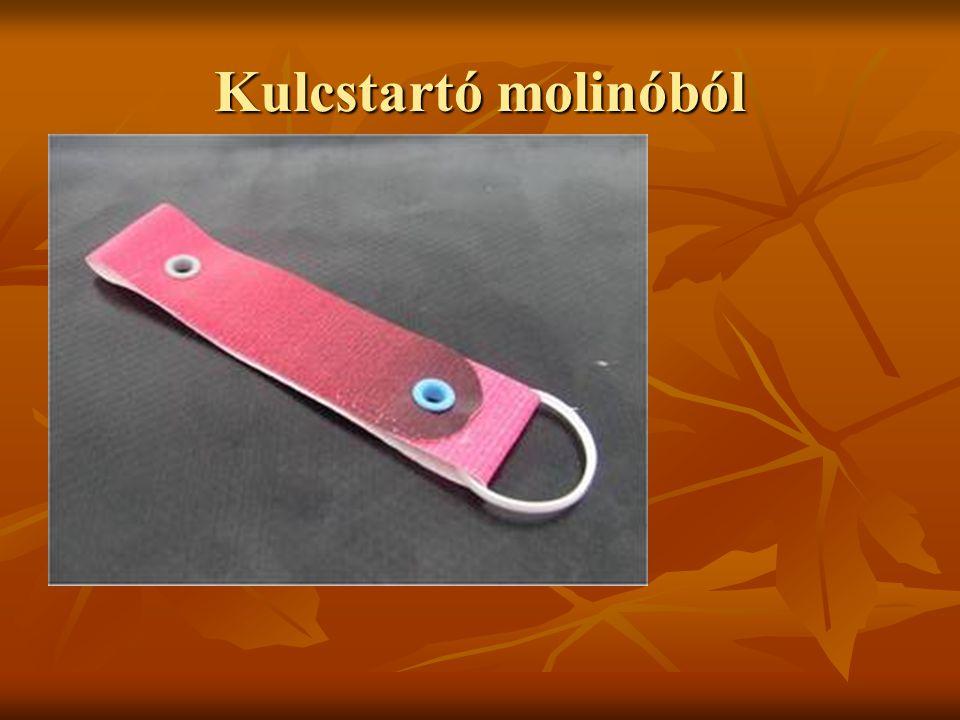 Kulcstartó molinóból