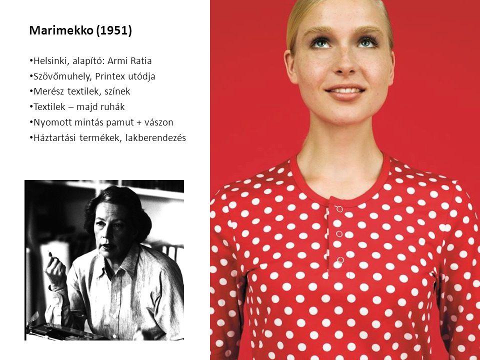 Marimekko (1951) Helsinki, alapító: Armi Ratia