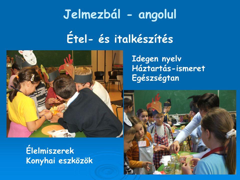 Jelmezbál - angolul Étel- és italkészítés Idegen nyelv