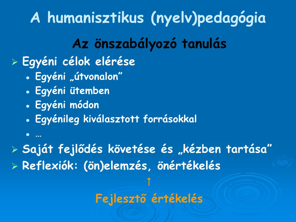 A humanisztikus (nyelv)pedagógia