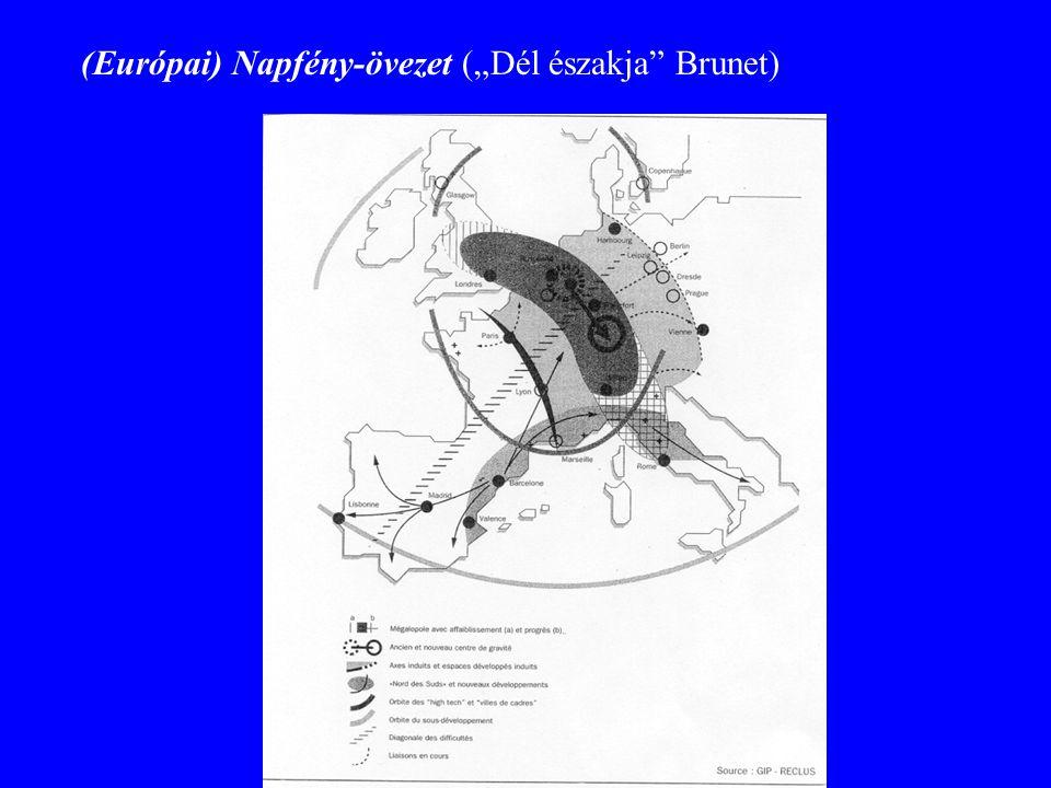 """(Európai) Napfény-övezet (""""Dél északja Brunet)"""