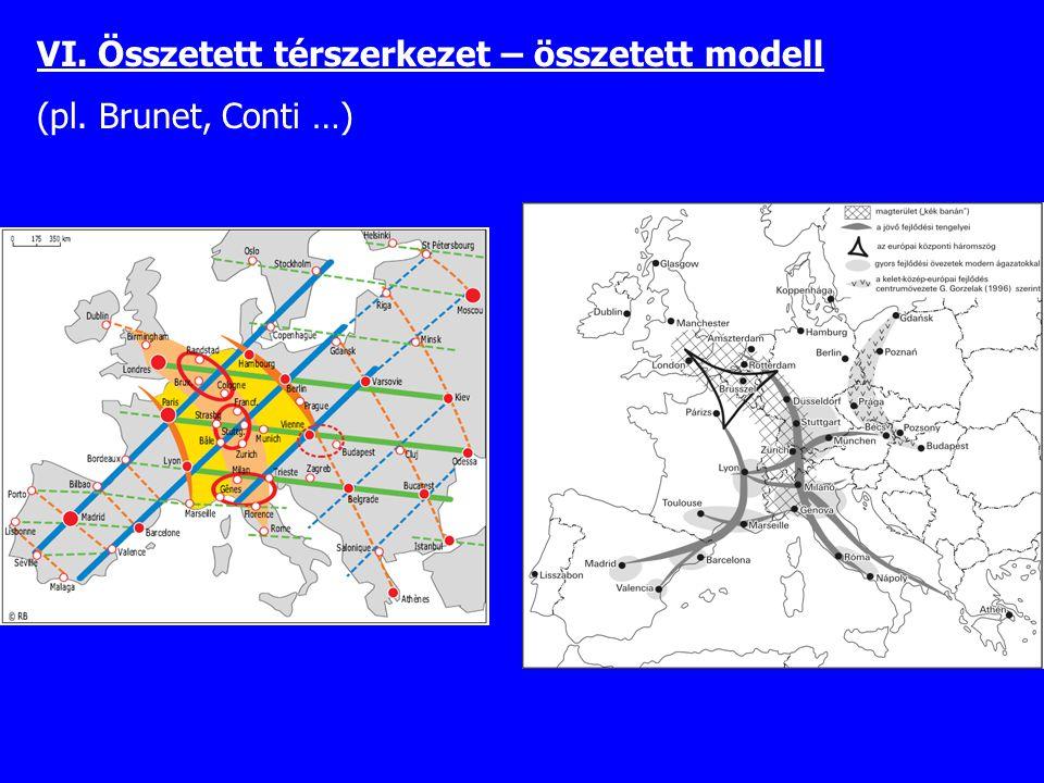 VI. Összetett térszerkezet – összetett modell