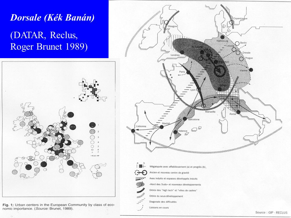 Dorsale (Kék Banán) (DATAR, Reclus, Roger Brunet 1989)