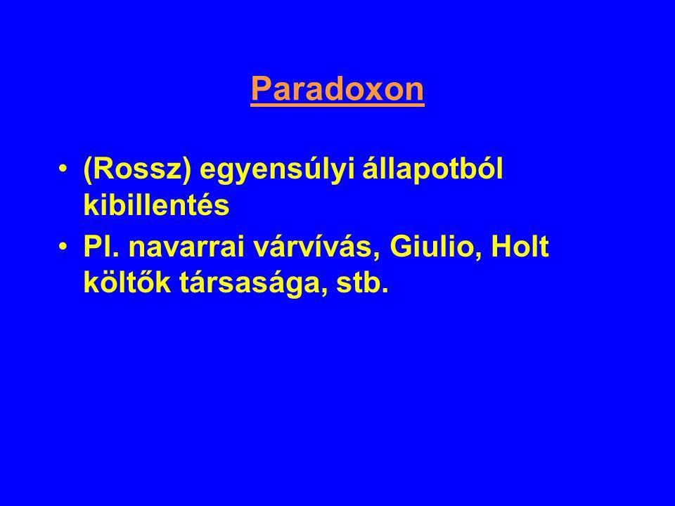 Paradoxon (Rossz) egyensúlyi állapotból kibillentés