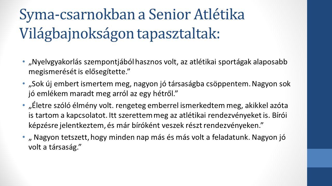 Syma-csarnokban a Senior Atlétika Világbajnokságon tapasztaltak: