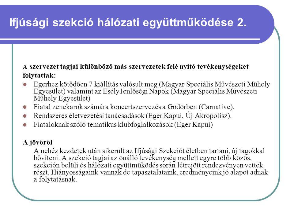 Ifjúsági szekció hálózati együttműködése 2.