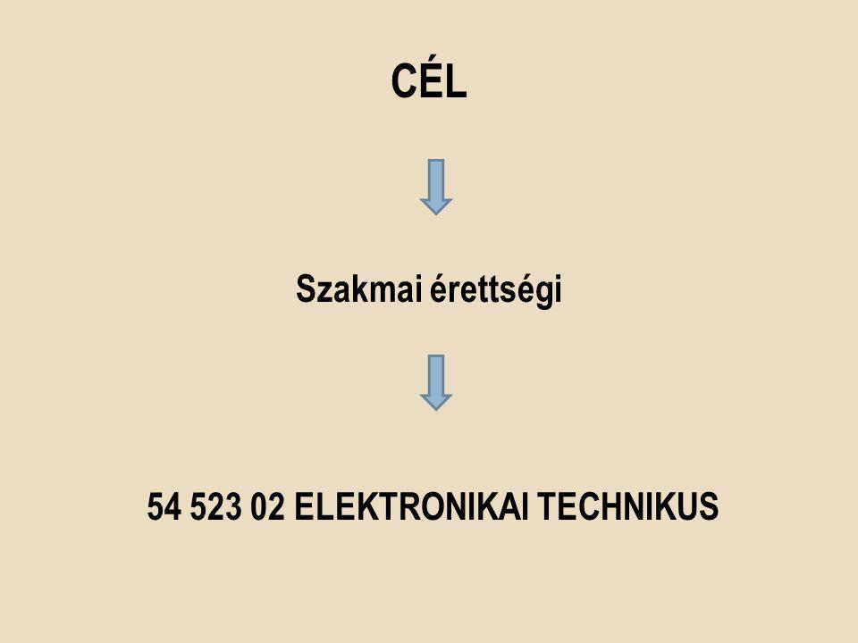 Szakmai érettségi 54 523 02 Elektronikai technikus