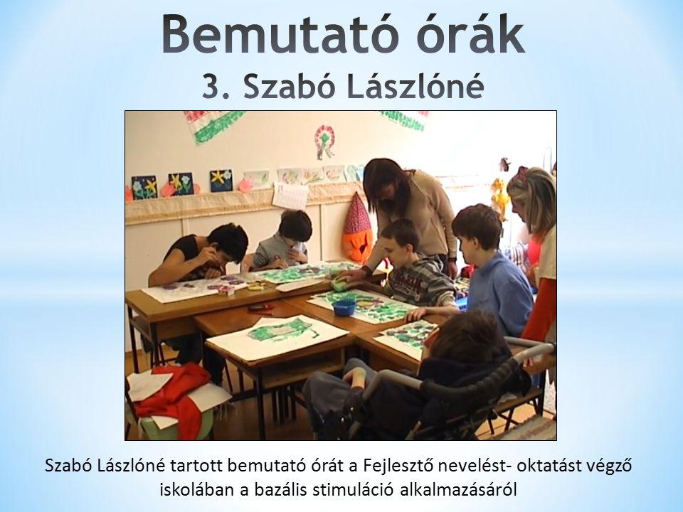 Bemutató órák 3. Szabó Lászlóné