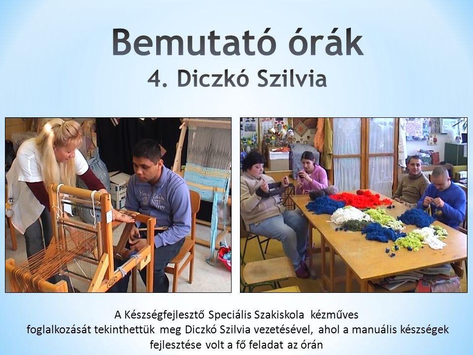 Bemutató órák 4. Diczkó Szilvia