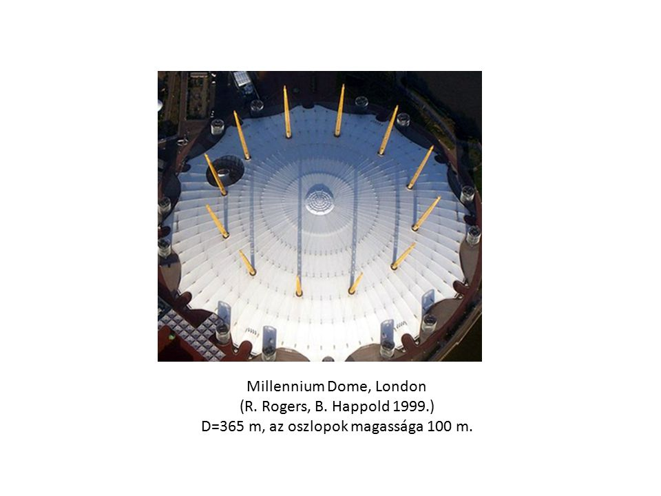 Millennium Dome, London (R. Rogers, B. Happold 1999.)
