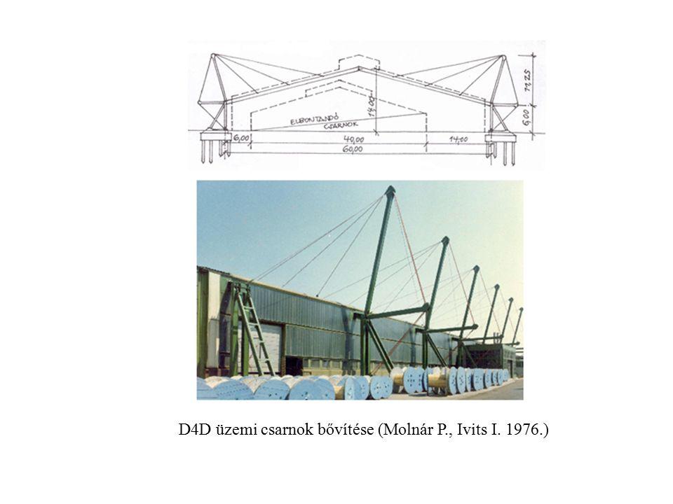D4D üzemi csarnok bővítése (Molnár P., Ivits I. 1976.)
