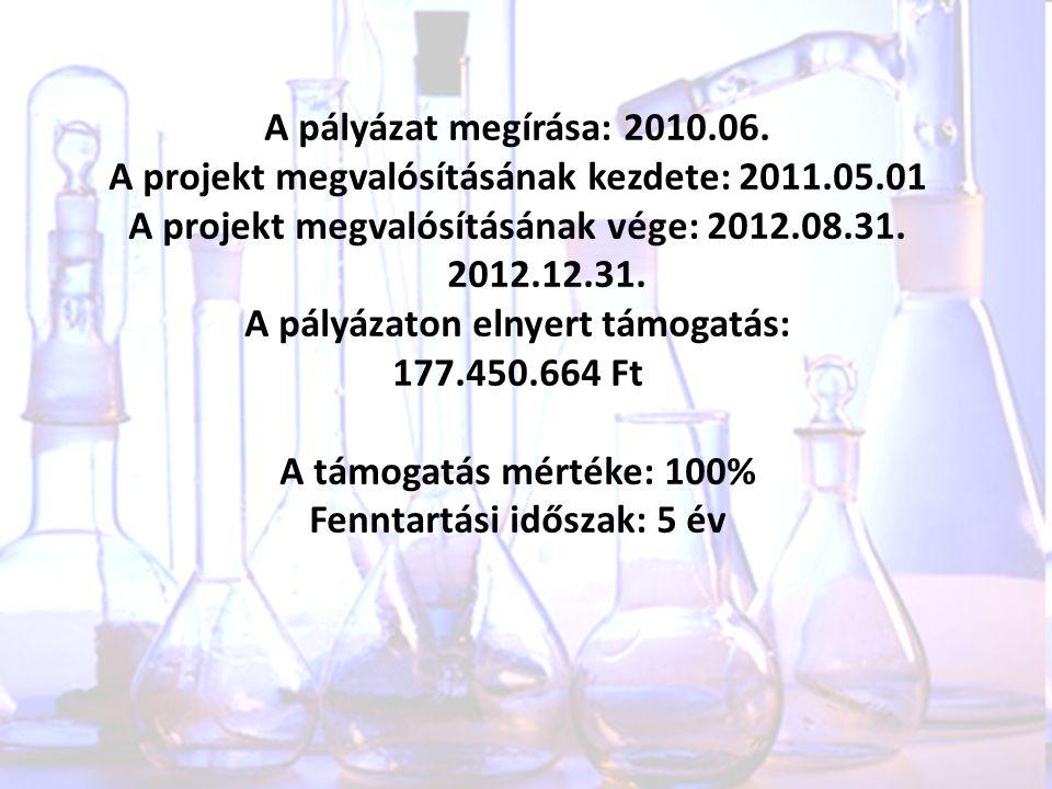 A projekt megvalósításának kezdete: 2011.05.01