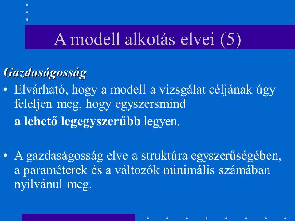 A modell alkotás elvei (5)