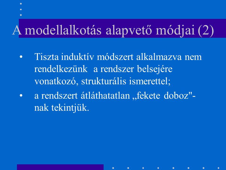 A modellalkotás alapvető módjai (2)