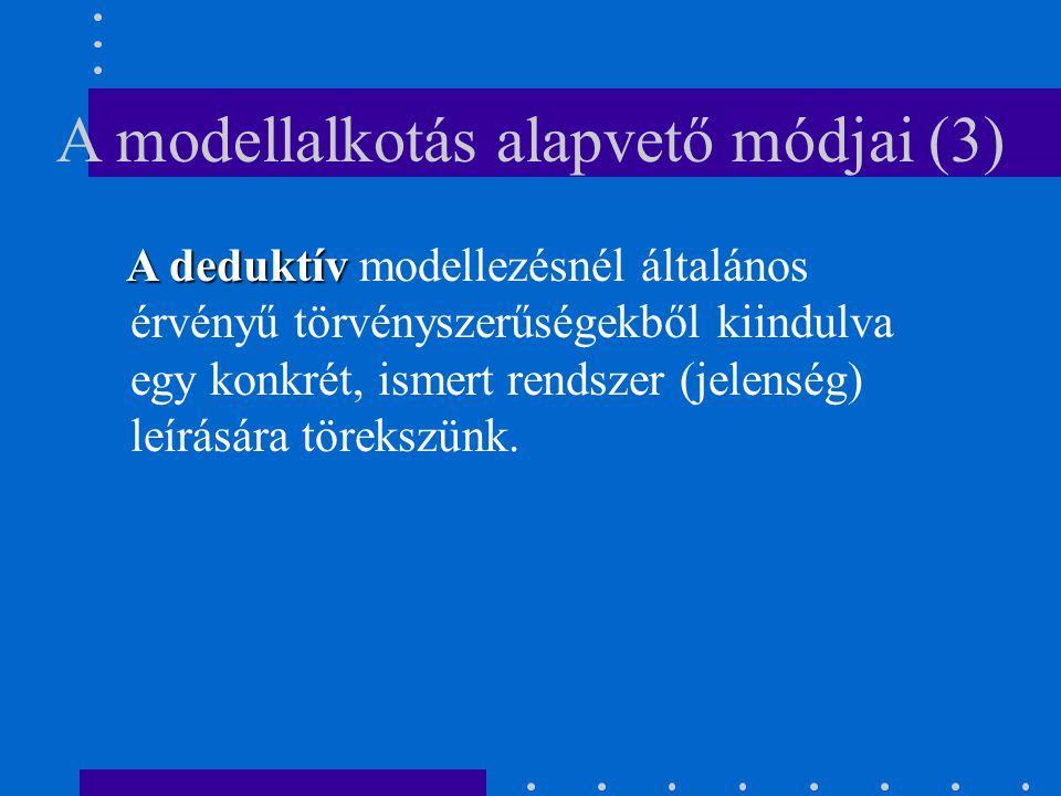 A modellalkotás alapvető módjai (3)