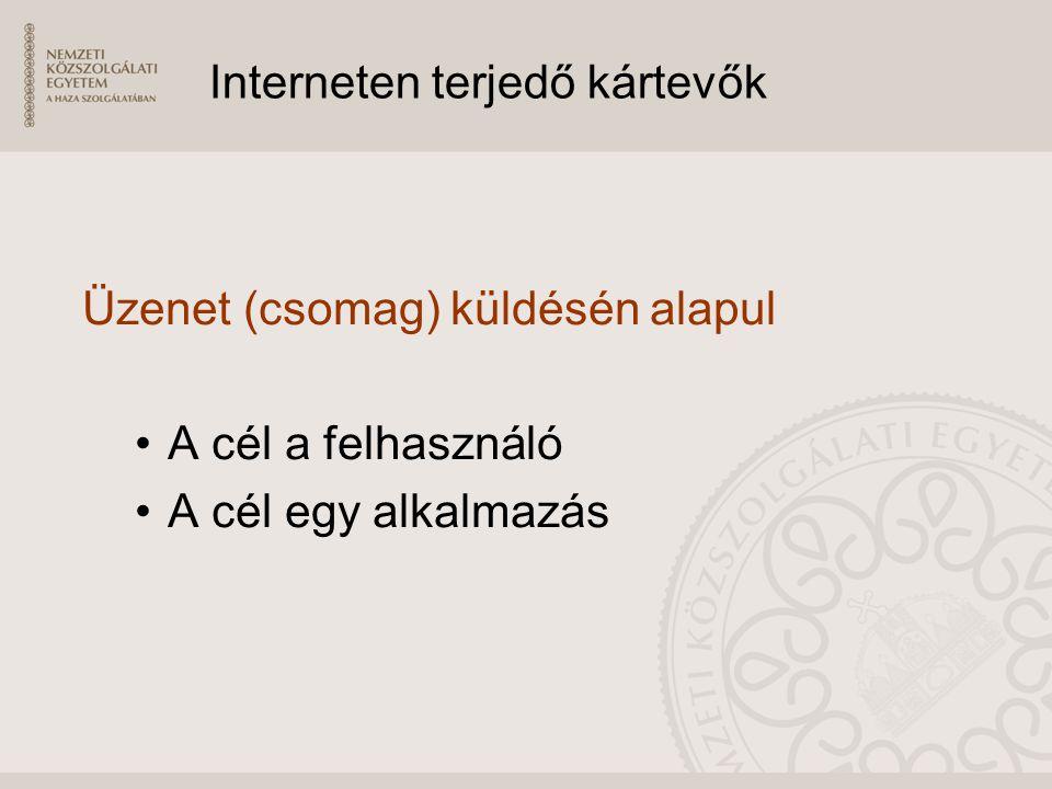 Interneten terjedő kártevők