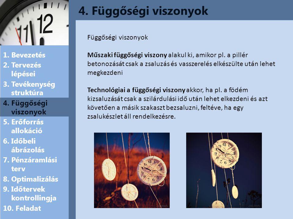 4. Függőségi viszonyok Függőségi viszonyok