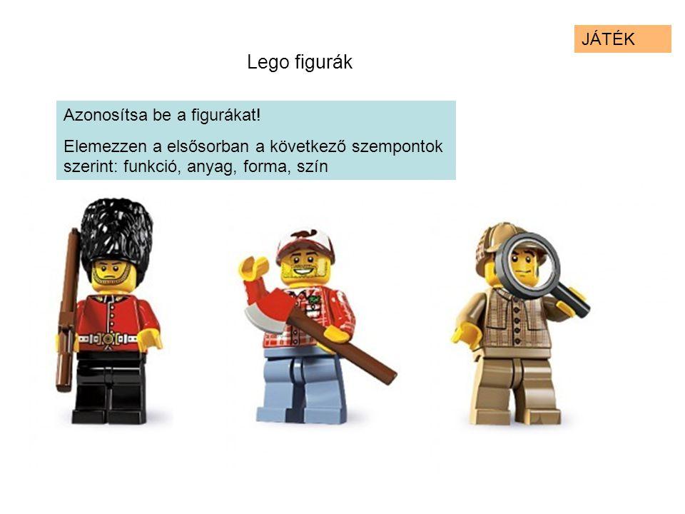 Lego figurák JÁTÉK Azonosítsa be a figurákat!