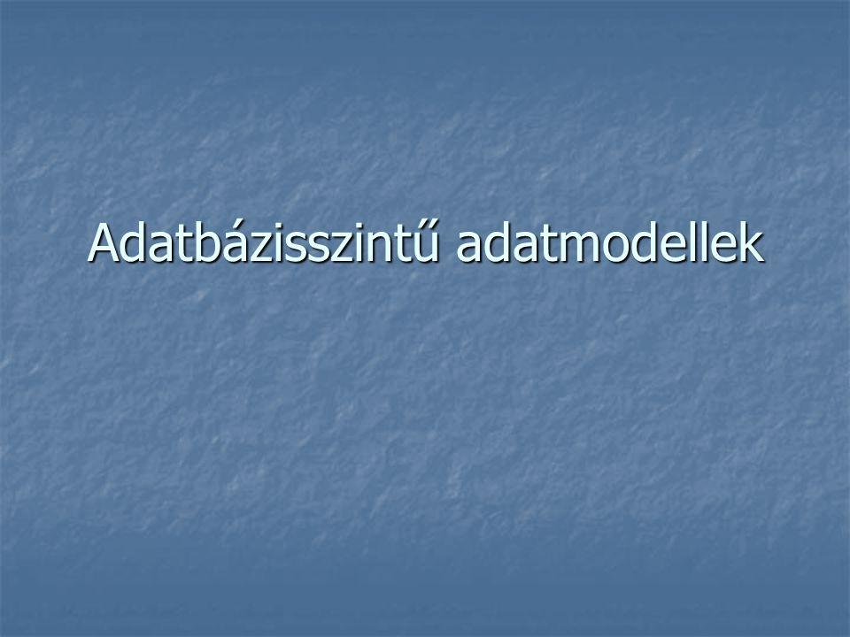 Adatbázisszintű adatmodellek