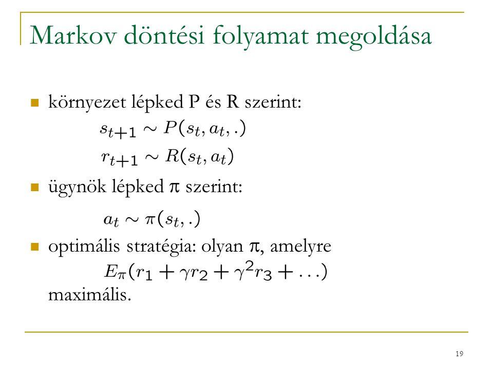 Markov döntési folyamat megoldása
