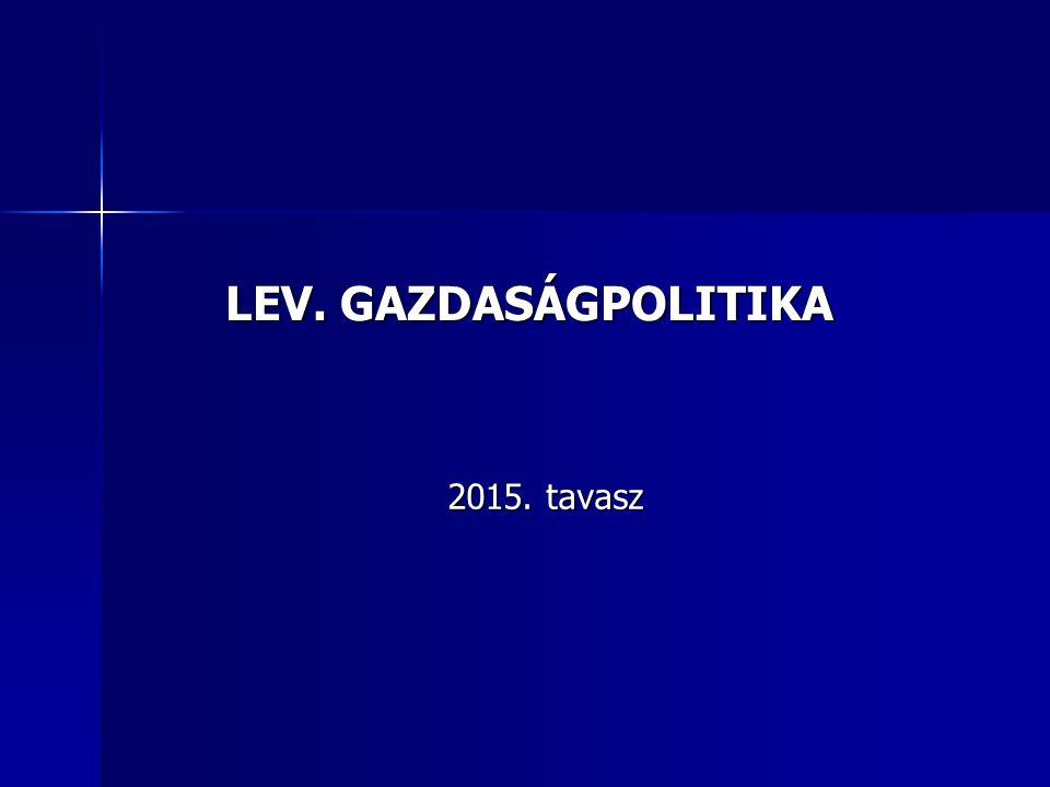 LEV. GAZDASÁGPOLITIKA 2015. tavasz