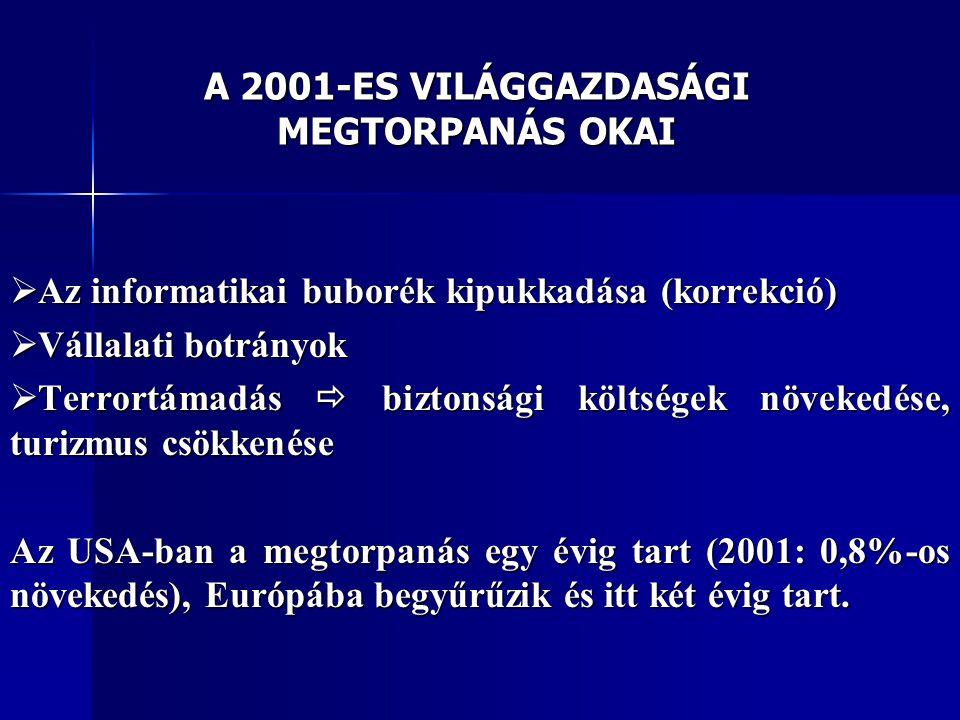 A 2001-ES VILÁGGAZDASÁGI MEGTORPANÁS OKAI