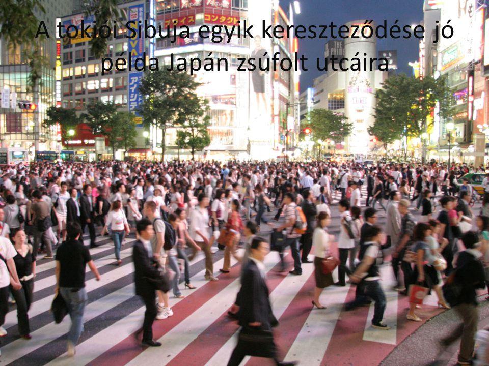 A tokiói Sibuja egyik kereszteződése jó példa Japán zsúfolt utcáira