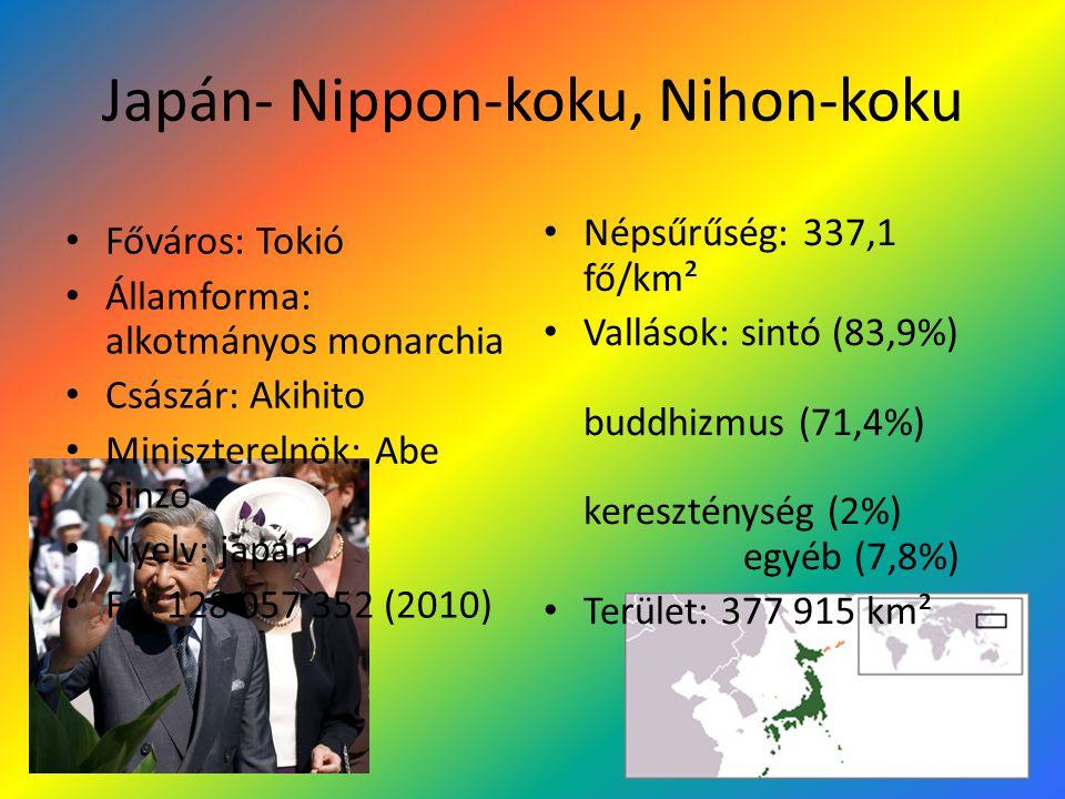 Japán- Nippon-koku, Nihon-koku