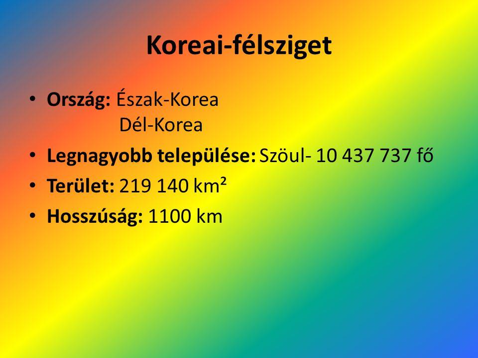 Koreai-félsziget Ország: Észak-Korea Dél-Korea