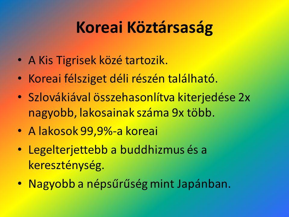 Koreai Köztársaság A Kis Tigrisek közé tartozik.