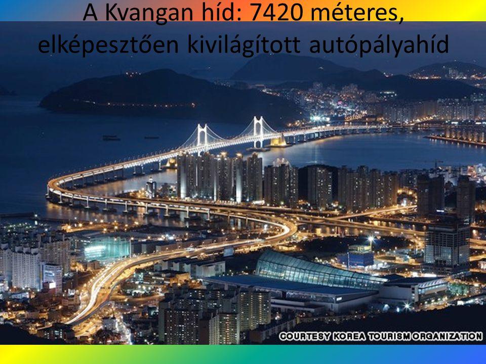 A Kvangan híd: 7420 méteres, elképesztően kivilágított autópályahíd