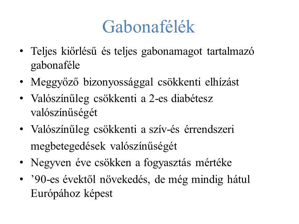 Gabonafélék Teljes kiőrlésű és teljes gabonamagot tartalmazó gabonaféle. Meggyőző bizonyossággal csökkenti elhízást.